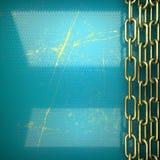 Fundo dourado pintado no azul Foto de Stock Royalty Free