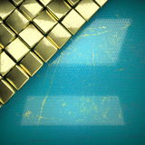 Fundo dourado pintado no azul Imagem de Stock Royalty Free
