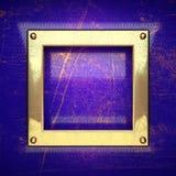 Fundo dourado pintado no azul Fotos de Stock