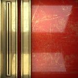 Fundo dourado pintado no vermelho Fotos de Stock Royalty Free