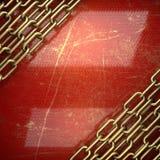 Fundo dourado pintado no vermelho Fotos de Stock