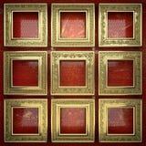 Fundo dourado pintado no vermelho Imagem de Stock