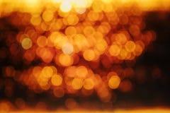 Fundo dourado, preto e amarelo do círculo Imagens de Stock