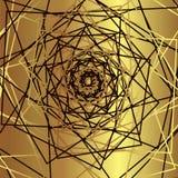Fundo dourado - projeto luxuoso abstrato Molde para as tampas, os insetos, as bandeiras, os cartazes e os cartazes ilustração do vetor