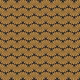 Fundo dourado sem emenda de Art Deco Pattern Texture Wallpaper Imagens de Stock Royalty Free