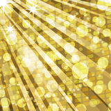 Luzes do disco e fundo dourados do mosaico Foto de Stock Royalty Free