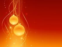Fundo dourado vermelho do Natal Imagens de Stock Royalty Free