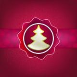Fundo e árvore do Natal. + EPS8 Fotografia de Stock