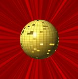 Fundo e bola vermelhos abstratos Fotografia de Stock Royalty Free