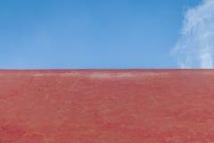 fundo e céu alaranjados do cimento Imagem de Stock