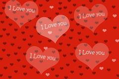 Fundo e coração vermelhos Fotografia de Stock Royalty Free