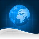 Fundo e globo abstratos Imagens de Stock