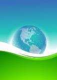 Fundo e globo abstratos do pixel Imagens de Stock Royalty Free