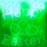 Fundo e ovo de Easter na janela ilustração royalty free