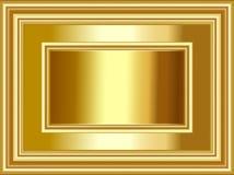 Fundo e quadro luxuosos do ouro para ocasiões do festival e das celebrações ilustração do vetor
