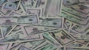 Fundo e queda das cédulas Fotos de Stock Royalty Free