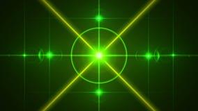 Fundo e raios abstratos verdes, laço ilustração do vetor