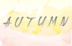 Fundo e rotulação do outono fotografia de stock
