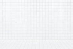 Fundo e teste padrão sem emenda brancos modernos da parede de tijolo Fotografia de Stock Royalty Free