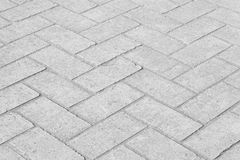fundo e textura brancos do assoalho do bloco de cimento Foto de Stock
