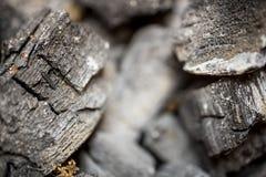 Fundo e textura do carvão vegetal no foco obscuro Fotos de Stock Royalty Free