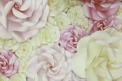 Fundo e textura do contexto do casamento de papel das flores Imagens de Stock Royalty Free