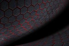 fundo e textura do hexágono Imagens de Stock Royalty Free