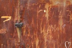 Fundo e textura oxidados velhos do estanho Fotos de Stock