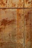 Fundo e textura oxidados velhos do estanho Fotografia de Stock
