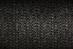 Fundo e textura pretos do hexágono imagens de stock royalty free