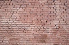 Fundo e textura quadrados da parede do bloco do tijolo Pintado no vermelho imagens de stock royalty free