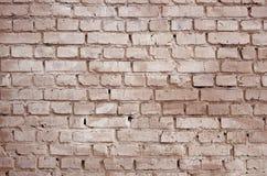 Fundo e textura quadrados da parede do bloco do tijolo Pintado no vermelho fotos de stock