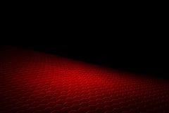 Fundo e textura vermelhos do hexágono Fotografia de Stock Royalty Free