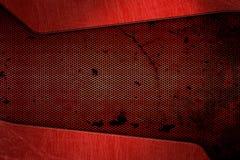 Fundo e textura vermelhos do metal foto de stock royalty free