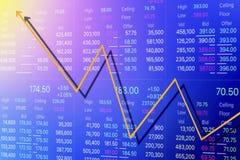 Fundo econômico e do negócio da crise Imagem de Stock