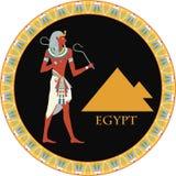 Fundo egípcio do vetor Fotografia de Stock