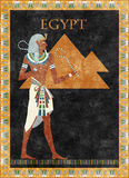 Fundo egípcio do vetor Foto de Stock Royalty Free