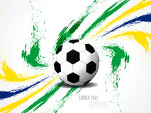 Fundo elegante criativo do futebol com respingo do grunge das cores de Brasil. Fotografia de Stock Royalty Free