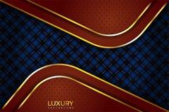 Fundo elegante de Brown luxuoso e do vintage azul ilustração do vetor