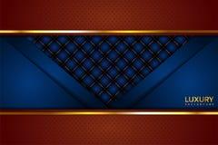 Fundo elegante de Brown luxuoso e do vintage azul ilustração royalty free