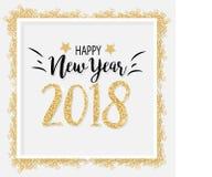 Fundo 2018 elegante do ano novo no vetor Fotografia de Stock Royalty Free