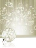 Fundo elegante do Natal com baubles. EPS 8 Foto de Stock Royalty Free