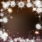 Fundo elegante do Natal com flocos de neve Imagem de Stock
