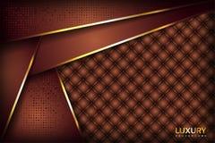 Fundo elegante luxuoso dourado de Brown ilustração royalty free