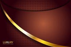 Fundo elegante luxuoso dourado de Brown ilustração do vetor