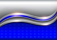 Fundo elegante, metálico azul de prata Imagens de Stock Royalty Free
