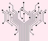 Fundo eletrônico. ilustração do vetor