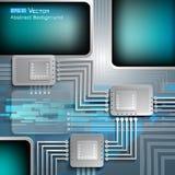 Fundo eletrônico da microplaqueta Fotografia de Stock