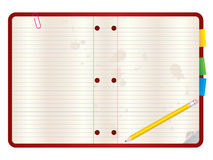 Fundo em branco do caderno Foto de Stock Royalty Free