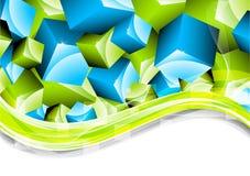 Fundo em cores verdes e azuis Fotos de Stock Royalty Free